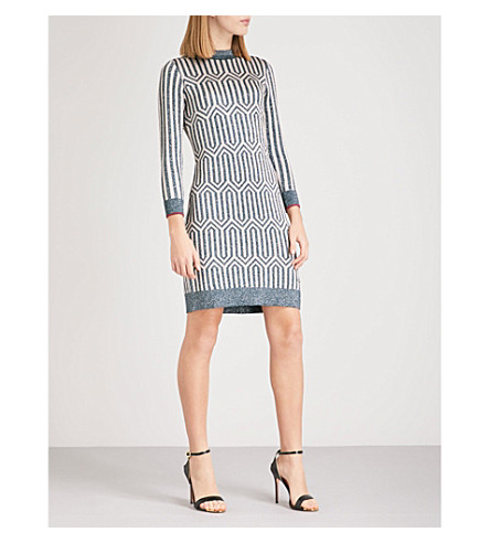 TED BAKER Irez knitted dress (Teal
