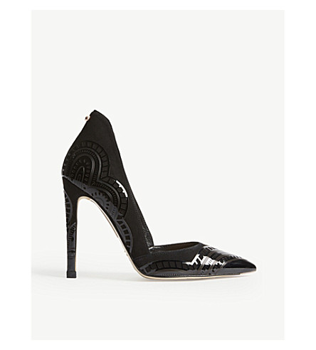 TED BAKER Kwistina laser-cut courts (Black
