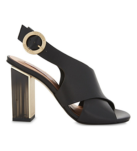 TED BAKER Cross-front leather sandals (Black
