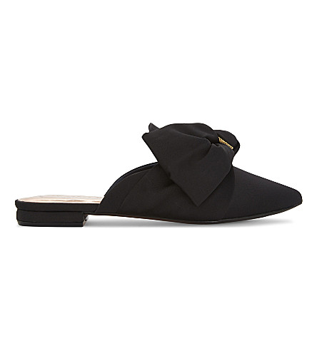 TED BAKER Tulous satin bow loafers (Black