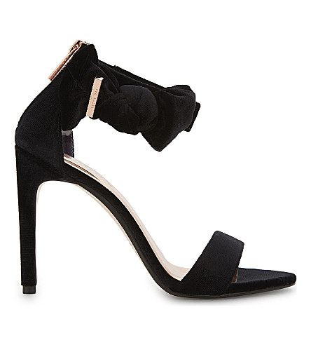 TED BAKER Torabel bow detail leather sandals (Black