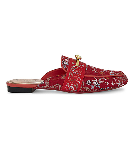 TED BAKER Dorlinj Kyoto print slip-on loafers (Bright+red