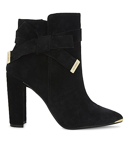 TED BAKER Sailly suede ankle boots (Black