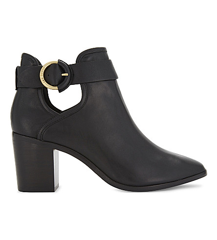 TED BAKER Sybell buckled leather ankle boots (Black