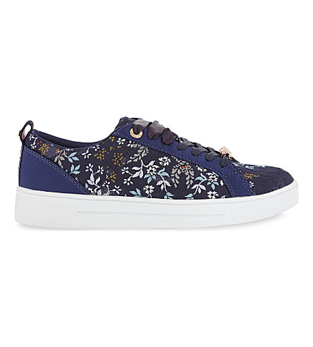 TED BAKER Kyoto Gardens floral trainers (Navy