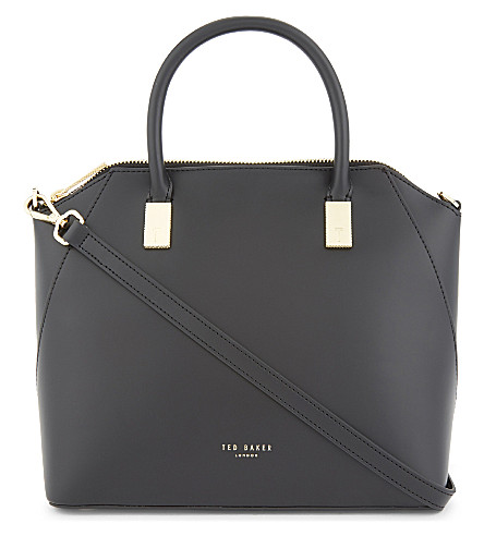 TED BAKER Small leather tote bag (Black