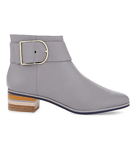 TED BAKER Robyin buckle detail leather Chelsea boots (Grey