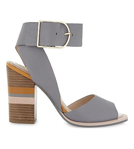 TED BAKER THASIE colour-block heeled sandals (Grey