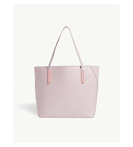 TED BAKER Lelexus leather tote (Dusky+pink
