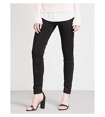 TED BAKER Stardust skinny high-rise jeans (Black