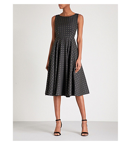 TED BAKER Lysanda fit-and-flare jacquard dress (Black