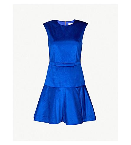 TED BAKER Jami velvet dress (Bright+blue