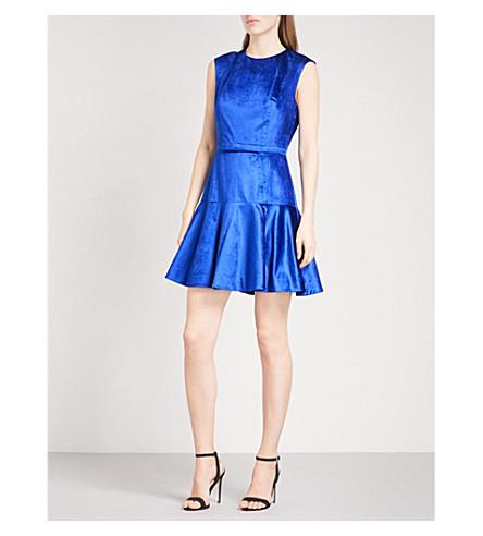 TED BAKER 雅米天鹅绒连衣裙 (亮 + 蓝)