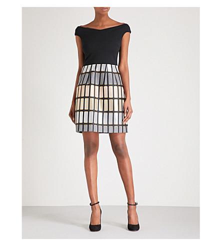TED BAKER Soffie fit-and-flare jacquard dress (Black