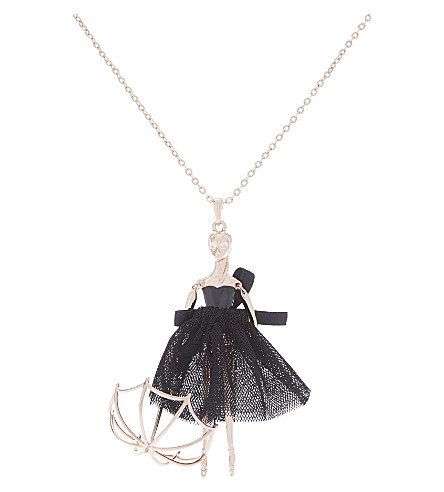 TED BAKER Ursaa ballerina necklace (Rosegold+col