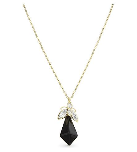 TED BAKER Geniivy geometric bee pendant (Black
