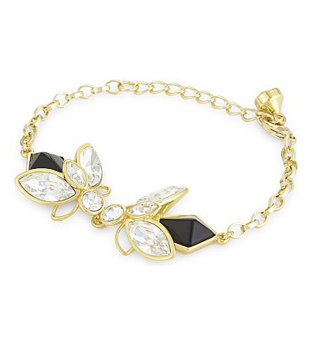 TED BAKER Genfer geometric bee bracelet (Black