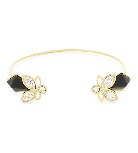 TED BAKER Gemiaa geometric bee cuff (Black