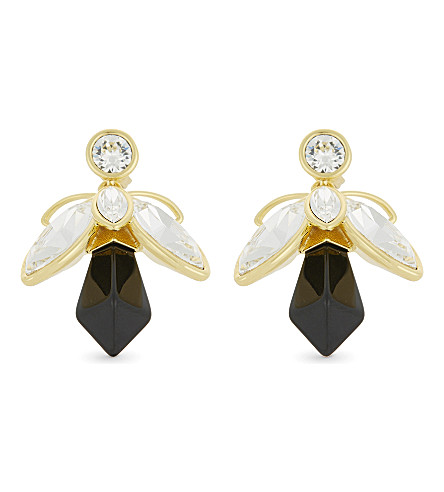 TED BAKER Geenn bee drop earrings (Black
