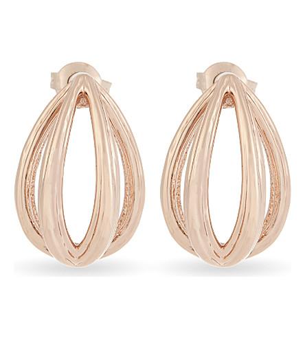 TED BAKER Ellyni curved teardrop earrings (Rosegold+col