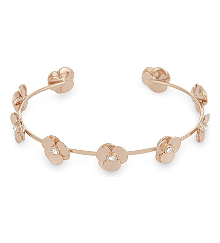 TED BAKER Parsia pressed flower cuff (Rosegold+col