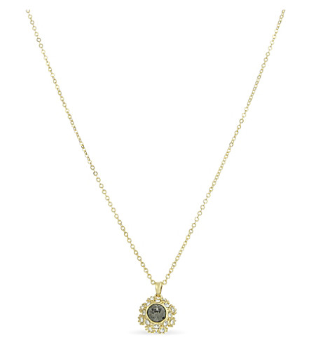 TED BAKER Sirou crystal daisy lace necklace (Jet