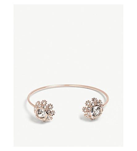 TED BAKER Seniie crystal daisy lace cuff (Clear