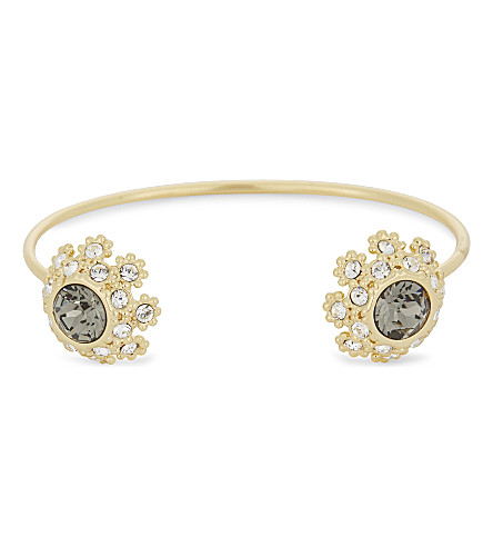 TED BAKER Seniie crystal daisy lace cuff (Jet