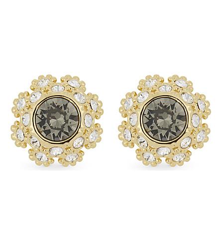 TED BAKER Seraa crystal daisy lace earrings (Jet