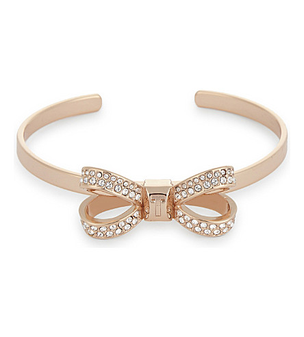 TED BAKER Olexaa bow cuff bracelet (Rosegold+col