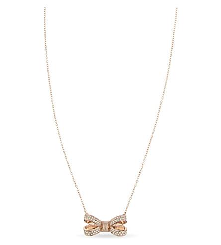 TED BAKER Olira bow pendant (Rosegold+col
