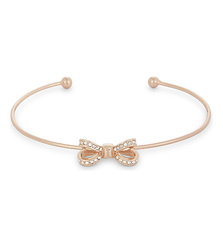 TED BAKER Olexii mini bow cuff bracelet (Rosegold+col