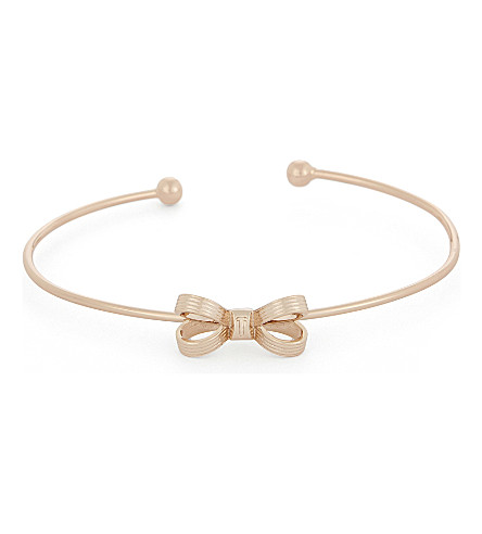 TED BAKER Olken mini bow cuff bangle (Rosegold+col