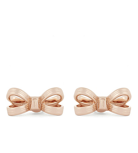 TED BAKER Tbj1575 mini opulnt bow earrng (Rosegold+col