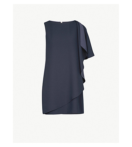 TED BAKER Monyca crepe dress (Dark+blue