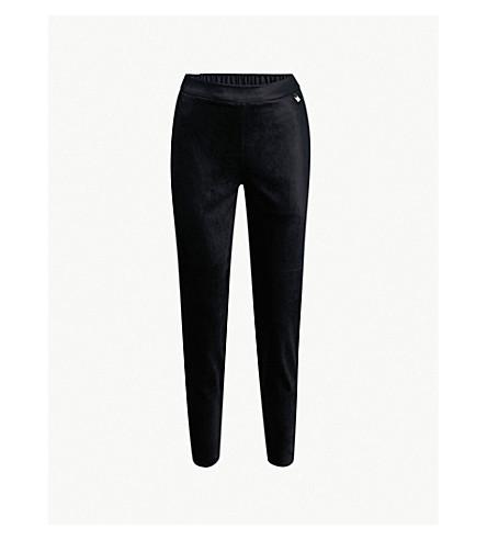 TED BAKER Jodee slim-fit velvet jogging bottoms (Dark+blue