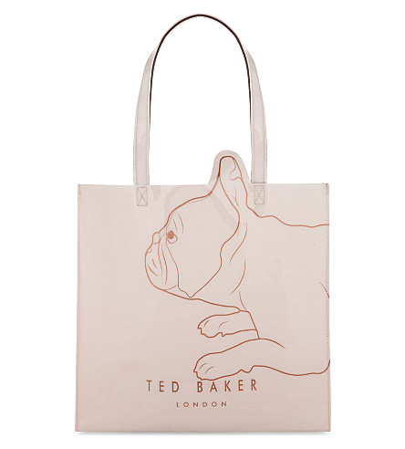 TED BAKER Pupcon vinyl shopper bag (Pale+pink