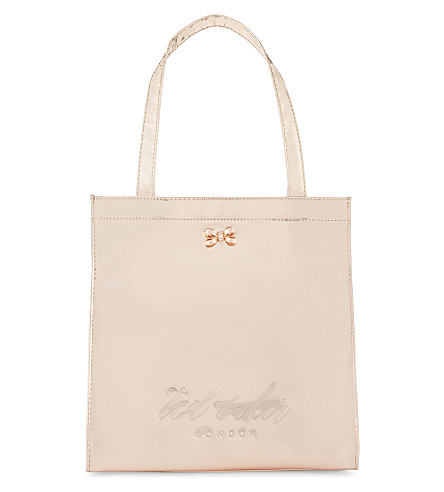 TED BAKER Doracon small mirrored shopper (Rose+gold