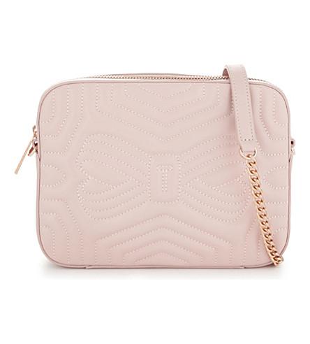 TED BAKER 阳光绗缝皮革相机袋 (淡 + 粉红色
