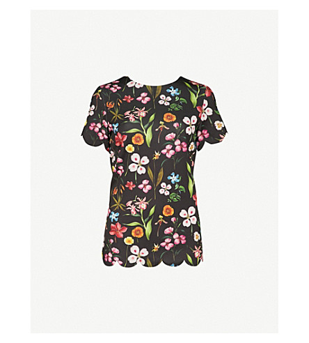 TED BAKER Emmalie Hampton Court woven top (Black