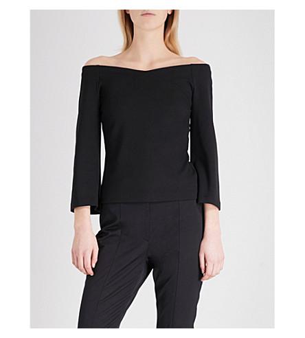 TED BAKER Iryne bardot jersey top (Black