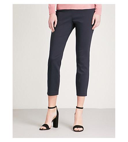 TED BAKER Split-hem stretch-gabardine trousers (Navy