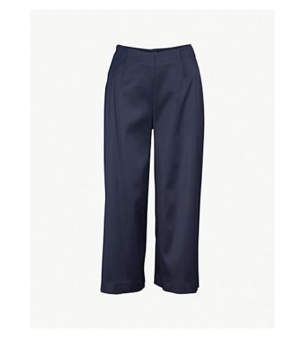 TED BAKER Berilo satin wide-leg culottes (Dark+blue
