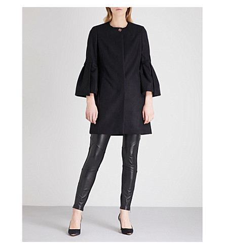 TED BAKER Jordane wool-blend coat (Black