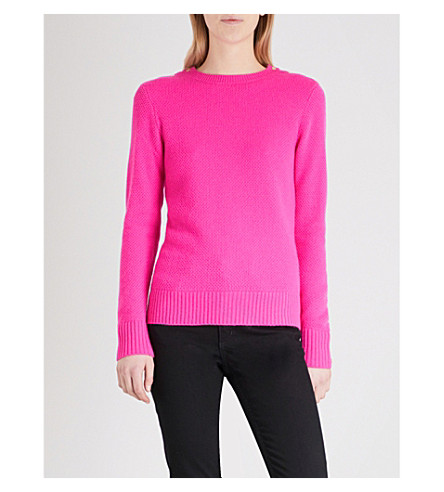 TED BAKER Textured wool-blend jumper (Bright+pink