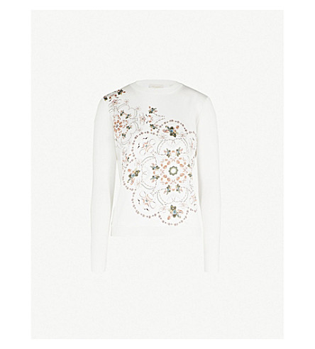 TED BAKER Holz printed knitted jumper (Ivory