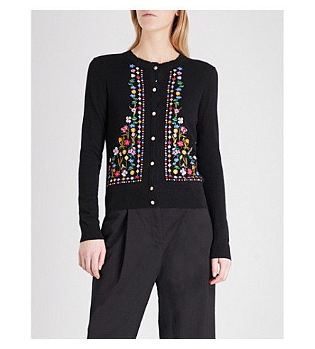 TED BAKER Hampton cotton-knitted cardigan (Black