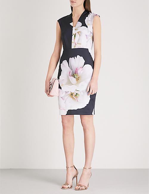 TED BAKER Rhian Gardenia printed woven dress