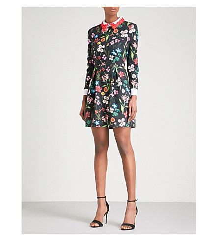 TED BAKER Hampton crepe mini dress (Black