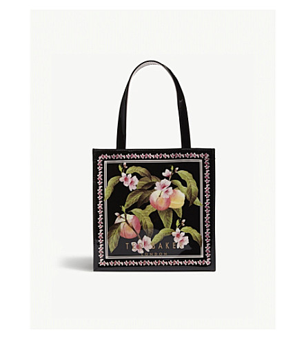 TED BAKER Amacon peach blossom icon shopper (Black